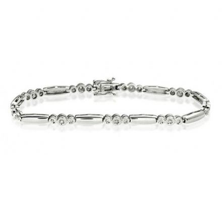 9K White Gold 0.25ct Diamond Bracelet, G1208